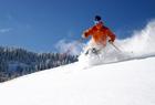 Skiing in Saalbach
